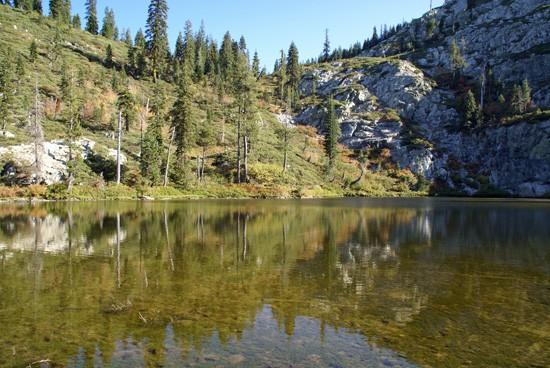 Little Castle Lake in Castle Crags Wilderness near Mount Shasta. (Photo by John Soares)