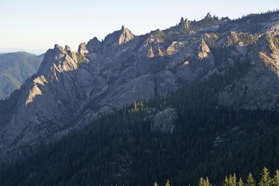 Castle Crags Wilderness viewed from Mount Bradley Ridge. (Photo by John Soares)