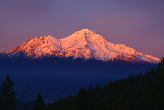 Mount Shasta sunset.