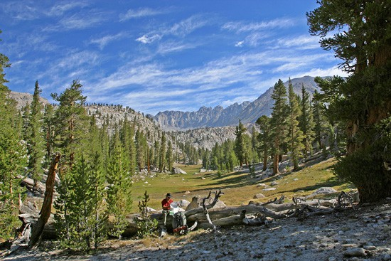 Tom Stienstra backpacking in the Sierra Nevada