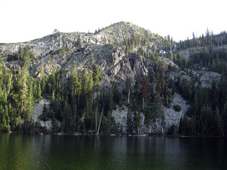 Lower Gray Rock Lake in the Trinity Divide Mountains west of Mount Shasta.