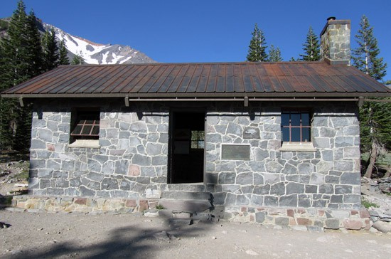 Sierra Club building at Horse Camp on Mount Shasta. (Photo by John Soares)