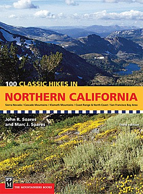 100 Classic Hikes in Northern California hiking trails guidebook