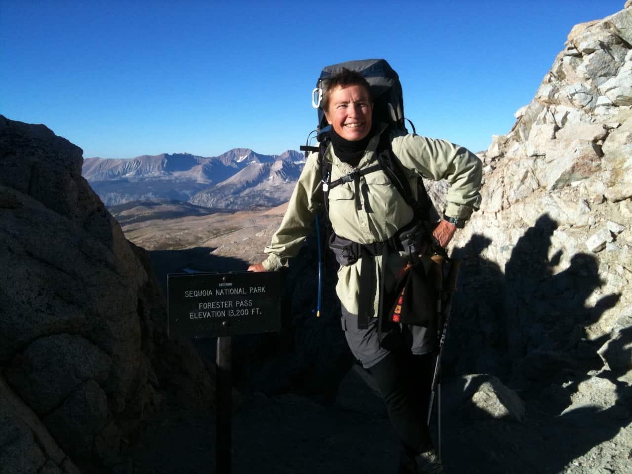 Pacific Crest Trail through-hiker Janet Zalewski, executive director of the Siskiyou Land Trust. (Courtesy of the Siskiyou Land Trust)