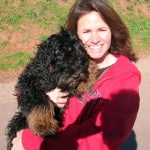My sweetheart Stephanie with superdog Cosmo from a house-sitting/pet-sitting gig in Bernal Heights in San Francisco.