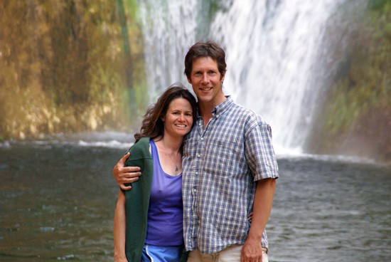 John Soares and Stephanie Hoffman at Calf Creek Falls in Escalante National Monument.