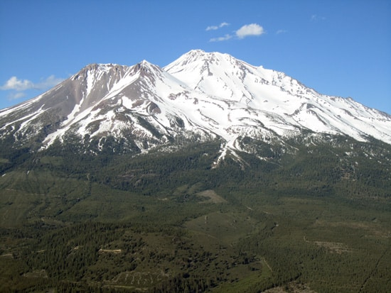 Mount Shasta from Black Butte on June 22, 2011.