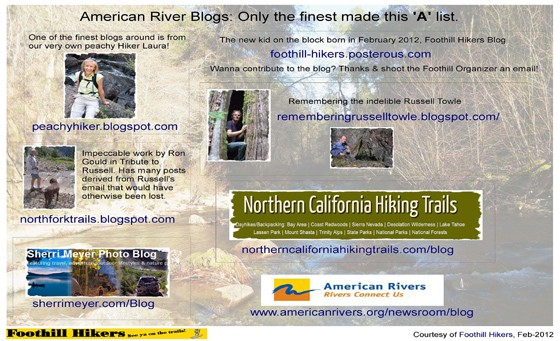 American River hiking blogs