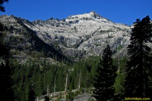 Mount Hilton and the Boulder Creek Lakes drainage in the Trinity Alps.