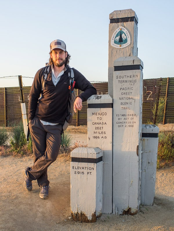 Hiking guidebook author Philip Kramer starts the California section of the Pacific Crest Trail.