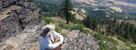 Grizzly Peak above Ashland, Oregon: hiking trail leads to great places to take in the views.