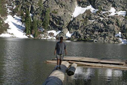 John Soares at Middle Cliff Lake