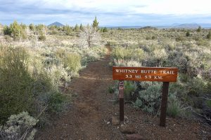 Hiking Whitney Butte Trail in Lava Beds National Monument