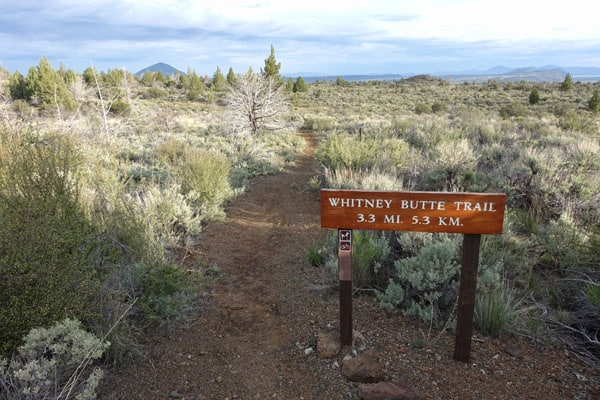 The Whitney Butte Trail in Lava Beds National Monument leads to Callahan Lava Flow and can be a day hike or an overnight backpacking trip.