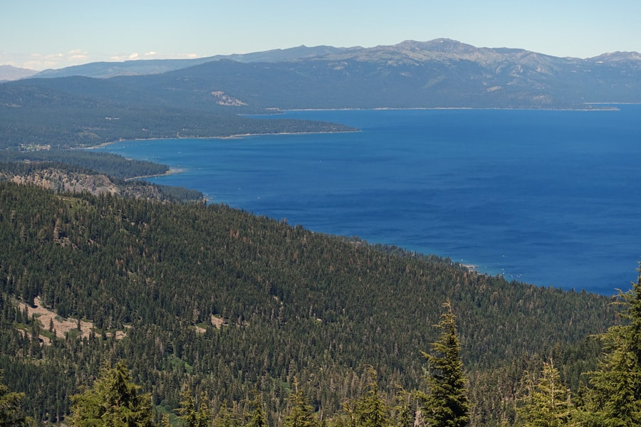 Ellis Peak Vista: Lake Tahoe and Northern Sierra Nevada. This awaits you at the end of the Ellis Peak Trail.