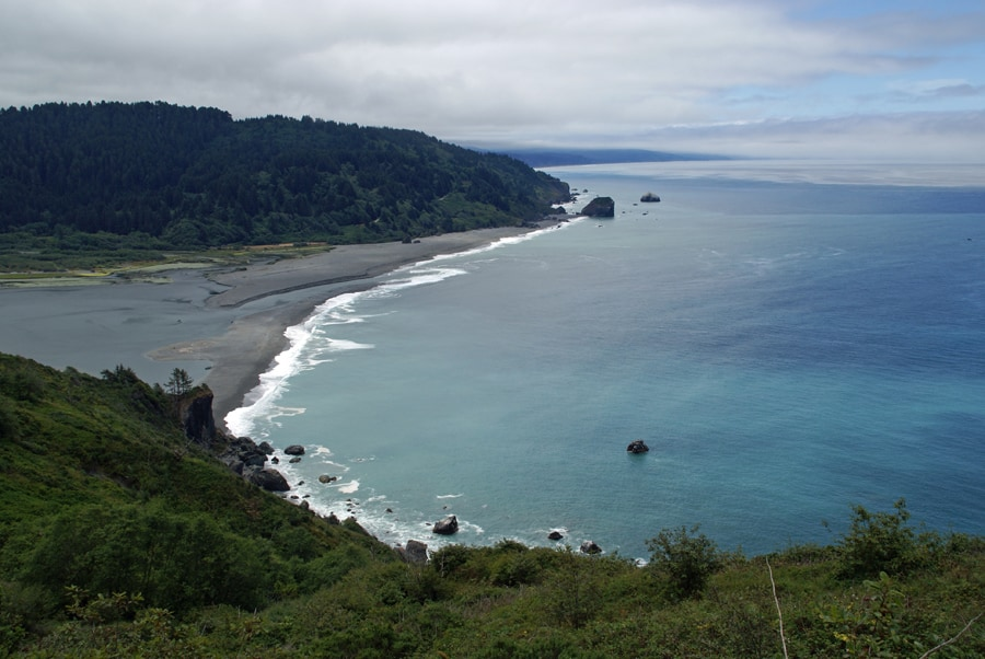 Mouth of the Klamath River from California Coastal Trail in Redwood National and State Parks.