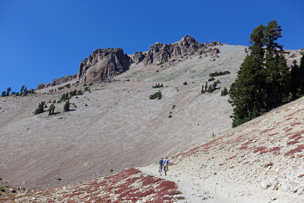 Free days to enter Northern California national parks at no cost: Martin Luther King birthday, first day of National Park Week, birthday of National Park Service, National Public Lands Day, Veterans Day. Lassen Peak in Lassen Volcanic National Park.