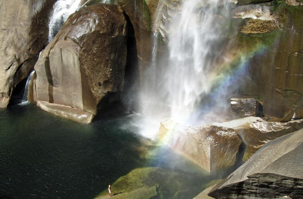 Free Entrance to Northern California National Parks: Vernal Falls, Yosemite. Martin Luther King birthday, first day of National Park Week, birthday of National Park Service, National Public Lands Day, Veterans Day.