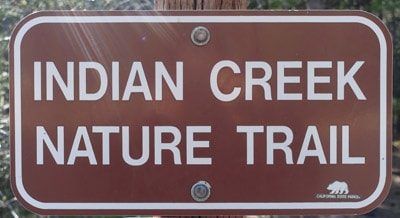 The Indian Creek Nature Trail in Castle Crags State Park covers human history and natural history. It leads to the Flume Trail, which in turn leads to the Pacific Crest Trail.