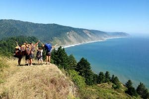 Backpacking the Lost Coast Trail. Backpackers explore the rugged Pacific Ocean coastline in Northern California's Sinkyone Wilderness State Park and King Range National Conservation Area.