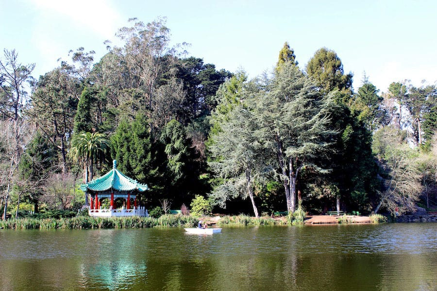 Golden Gate Park's Stow Lake is a great place for a short hike or a boat ride. There are numerous trails throughout the park.