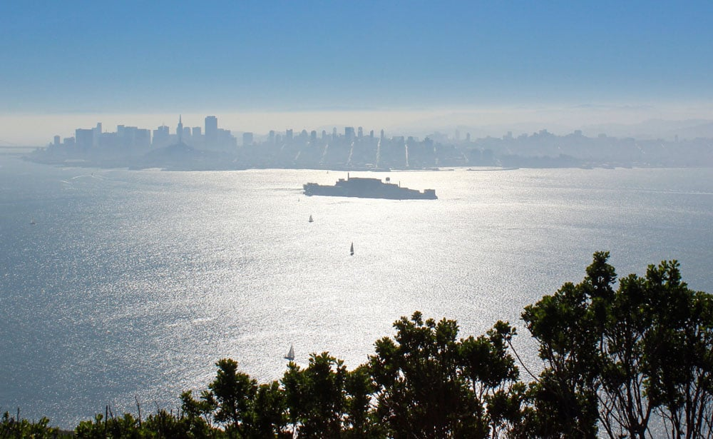 Angel Island's North Ridge Trail has great views of San Francisco Bay.