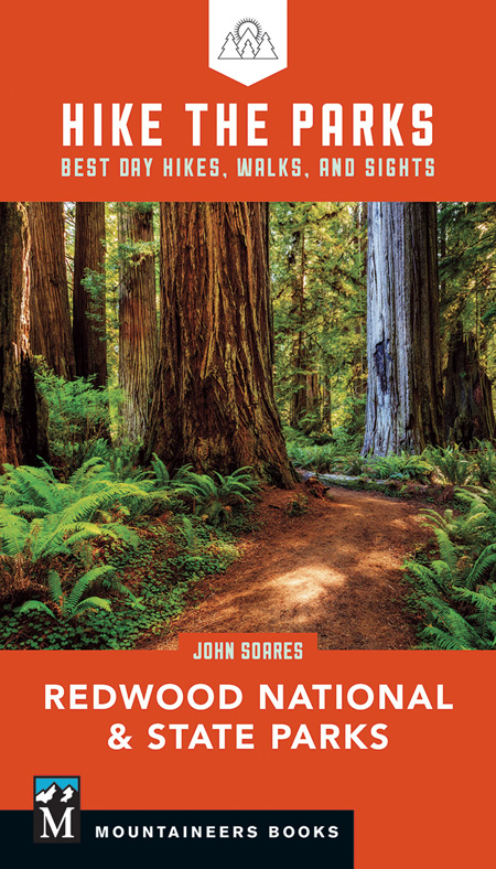Hike the Parks: Redwood National and State Parks guidebook. Best hiking trails in Jedediah Smith Redwoods State Park, Prairie Creek Redwoods State Park, plus coast/beach trails.
