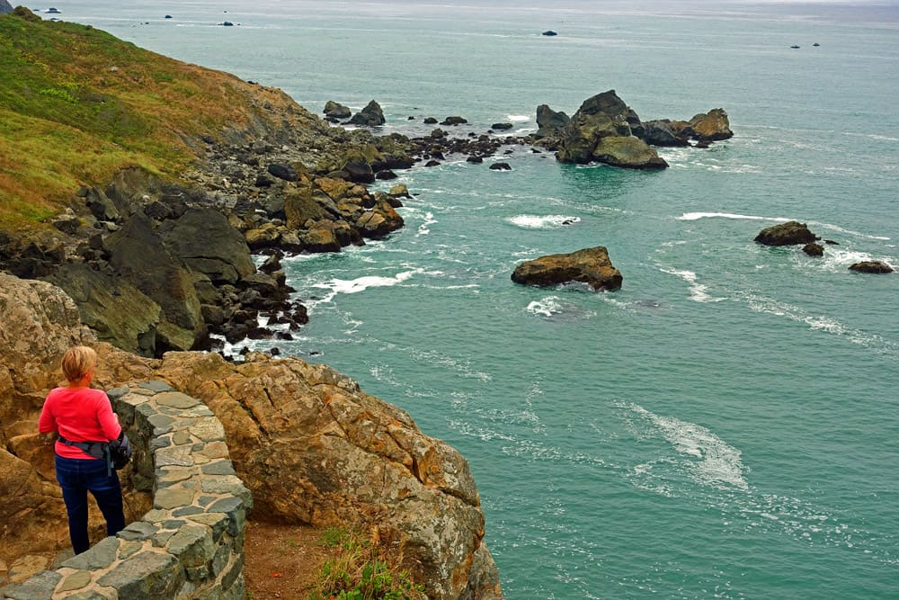 Wedding Rock on coast of Patrick's Point State Park: an excellent spot to watch for whales
