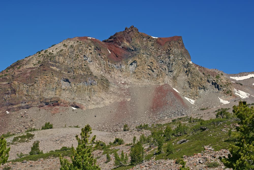 Green Butte above Mount Shasta's Old Ski Bowl, on the way to Avalanche Gulch, Helen Lake, and then to Shasta's summit via Red Banks.