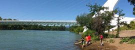 Sacramento River Banks and Sundial Bridge: Redding's Turtle Bay, near the Arboretum Loop Trail, perfect for walkers.