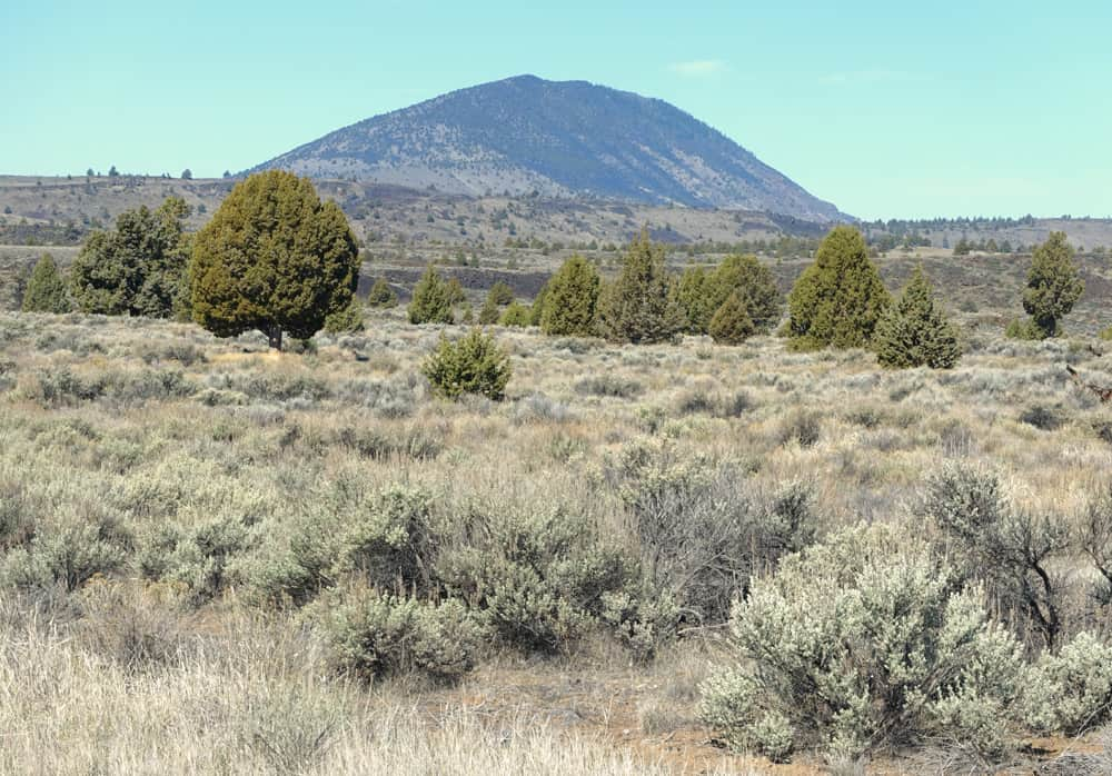 Mount Dome Near Lava Beds National Monument, as viewed from the start of the trail to Balcony Cave and Boulevard Cave.