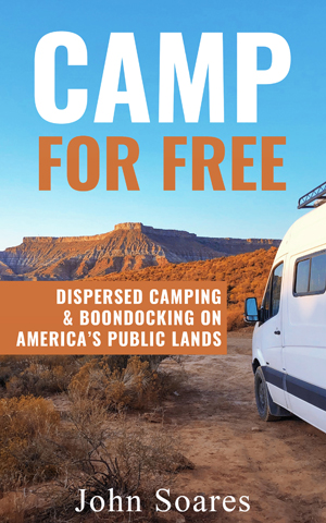 Camp for Free: Dispersed Camping & Boondocking on America's Public Lands book cover. Free camping in the United States.
