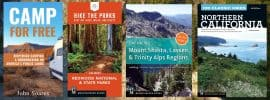 John Soares' Northern California hiking guidebooks, plus his book Camp for Free, about dispersed camping.