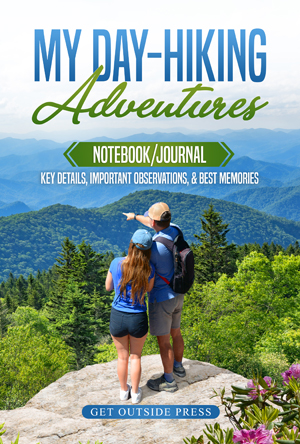 Day Hiking Notebook Journal Diary Logbook data: trails, length, elevation, trailhead, other hike data.