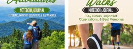 Day Hiking Walking Journal Notebook Diary Logbook: fitness books for hikers and walkers.