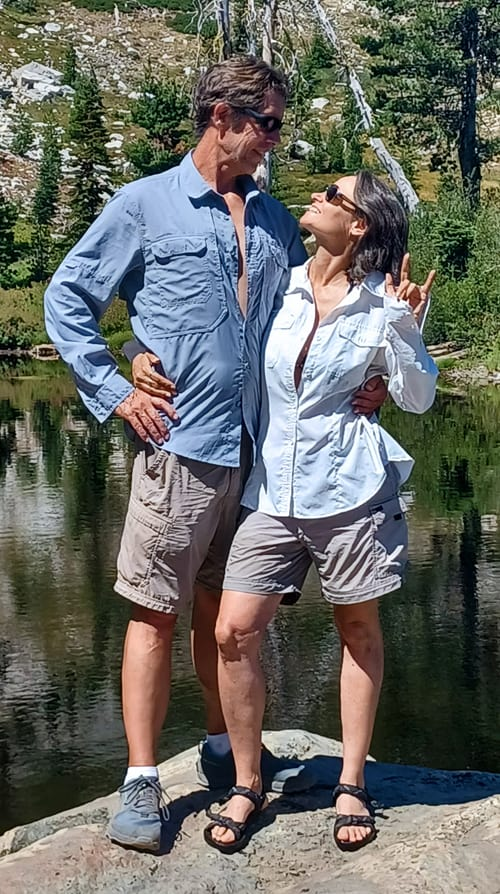 My sweetie Stephanie Hoffman and I at Heart Lake. We had our first date here in 2006!
