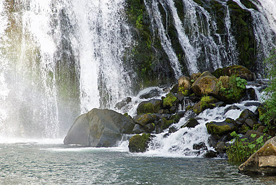 Middle McCloud Falls near Mount Shasta in Northern California