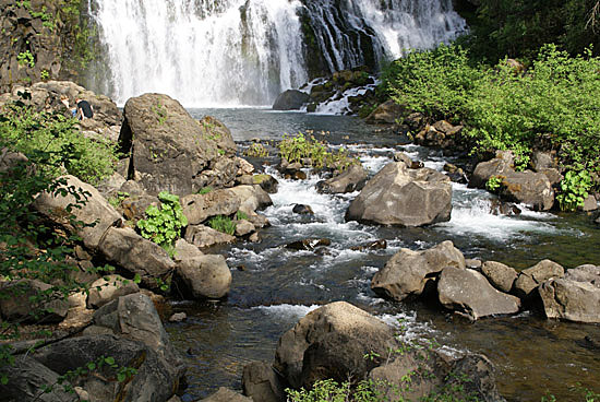 MCloud River and Middle McCloud Falls near Mount Shasta in Northern California